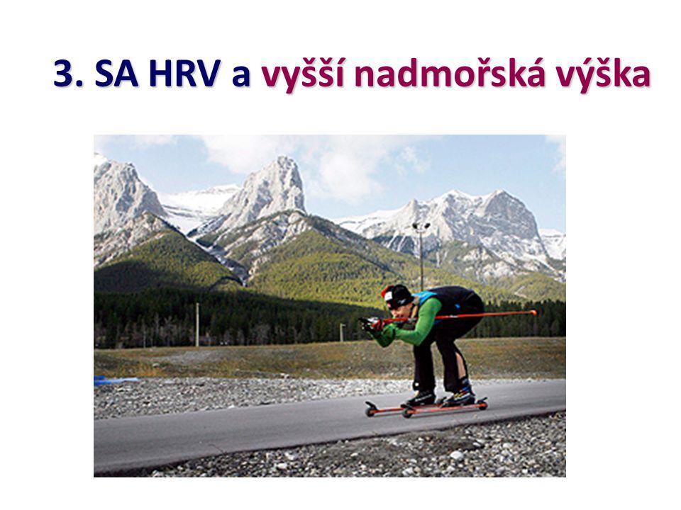 3. SA HRV a vyšší nadmořská výška