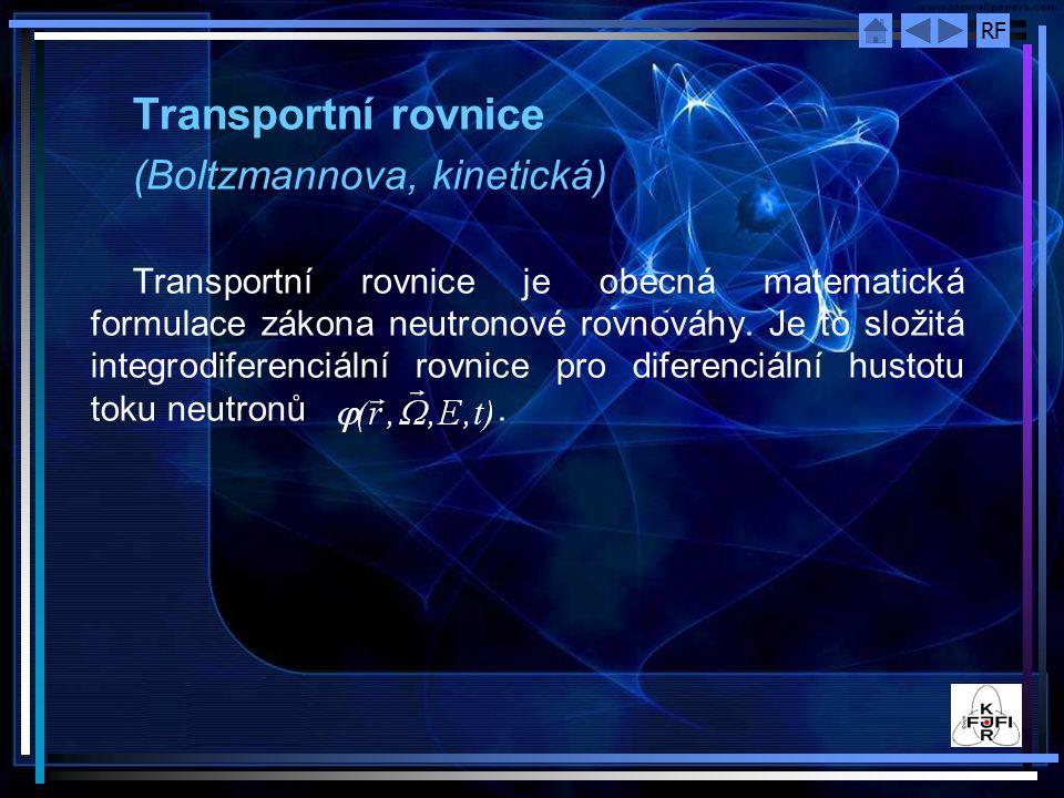 Transportní rovnice (Boltzmannova, kinetická)