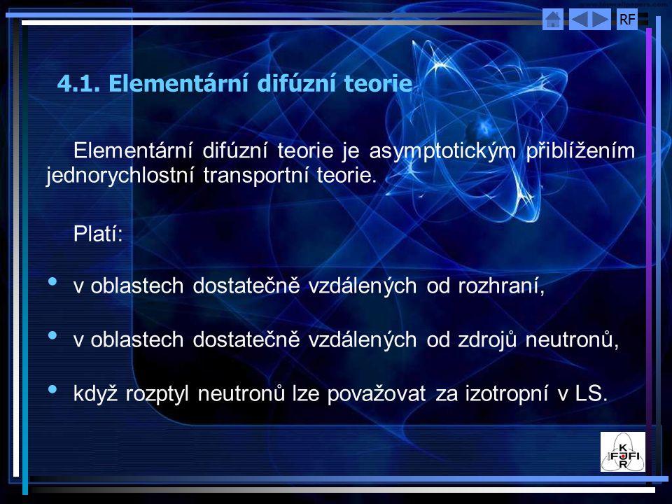 4.1. Elementární difúzní teorie