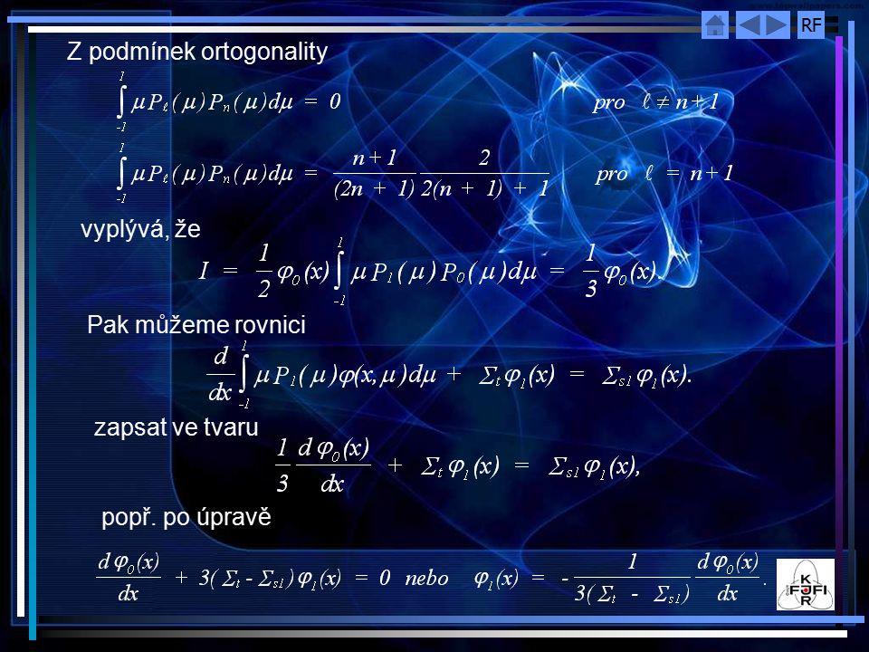 Z podmínek ortogonality