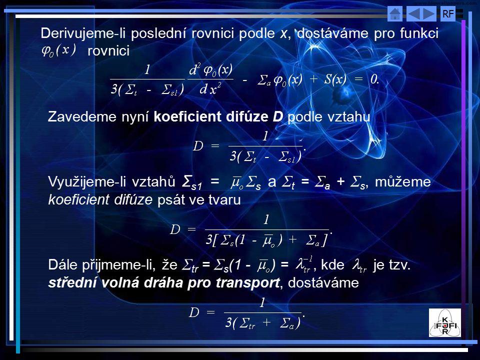 Derivujeme‑li poslední rovnici podle x, dostáváme pro funkci rovnici