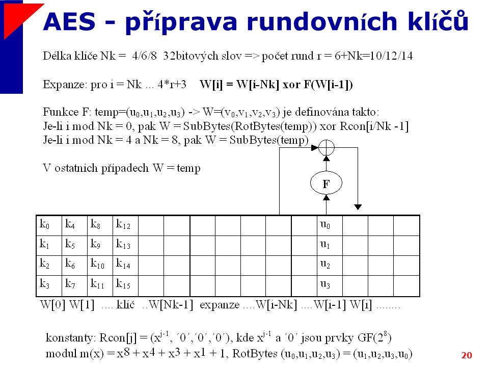 AES - příprava rundovních klíčů