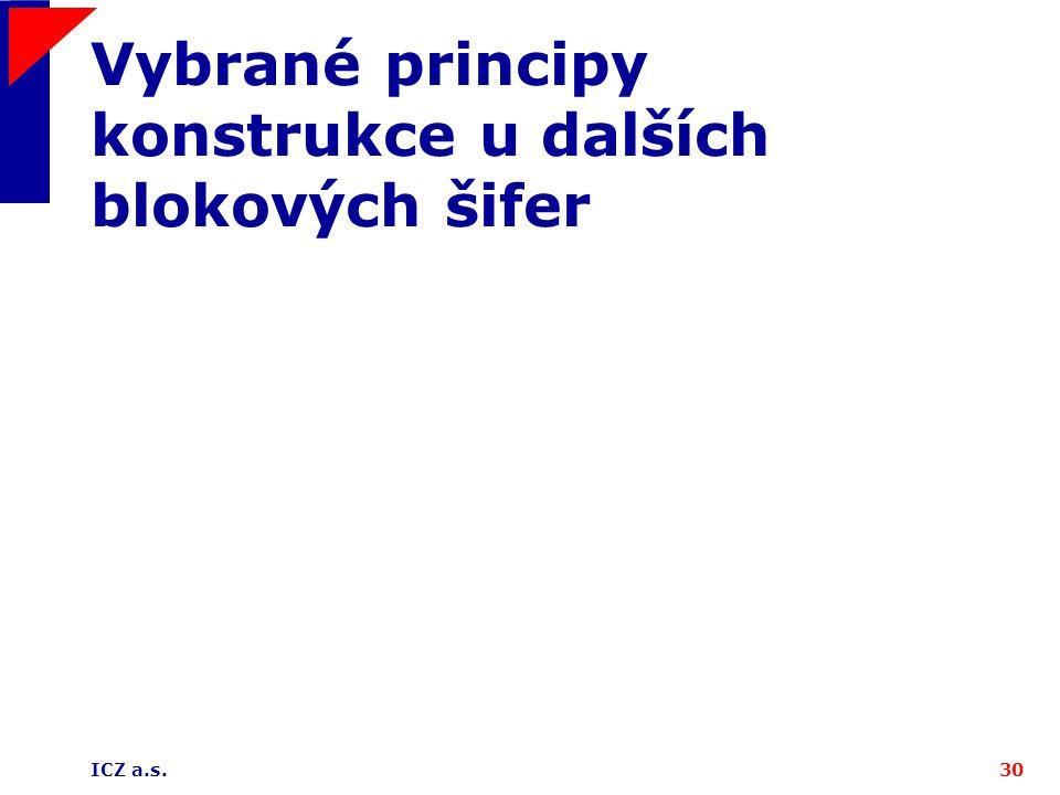 Vybrané principy konstrukce u dalších blokových šifer