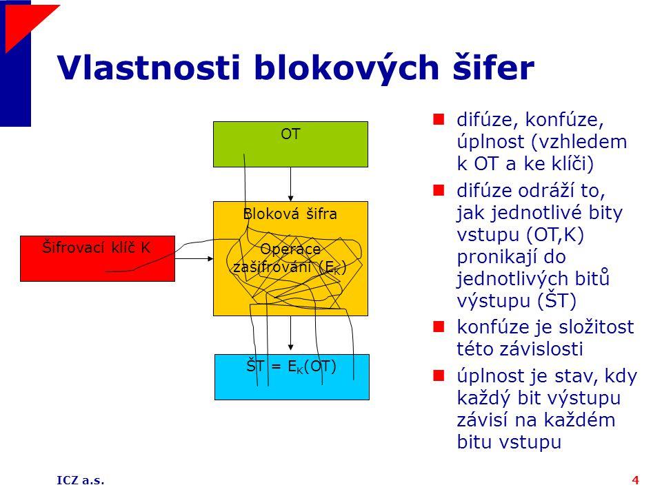 Vlastnosti blokových šifer