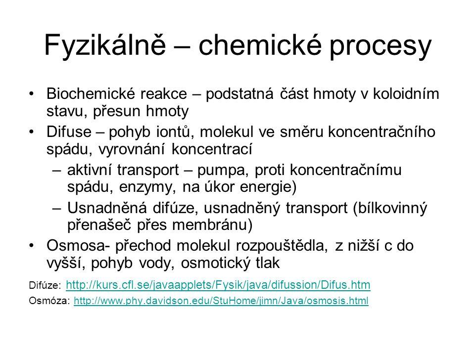 Fyzikálně – chemické procesy