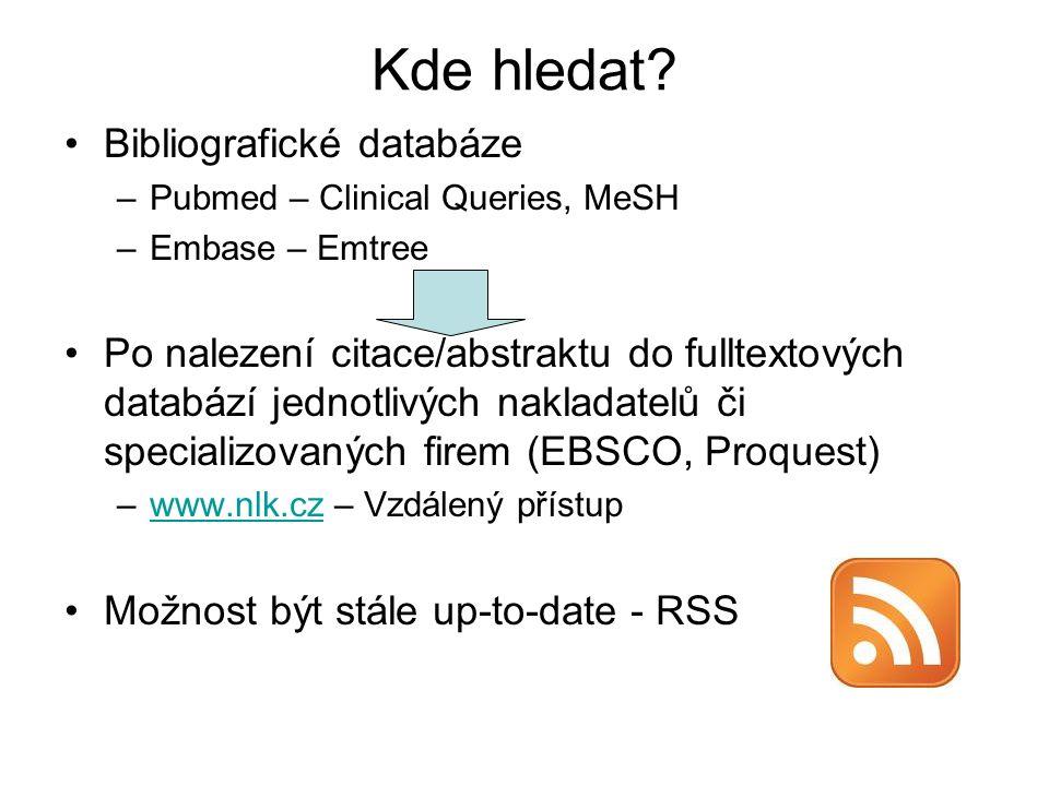 Kde hledat Bibliografické databáze