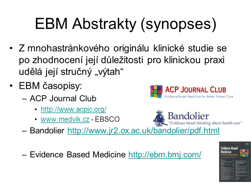 EBM Abstrakty (synopses)