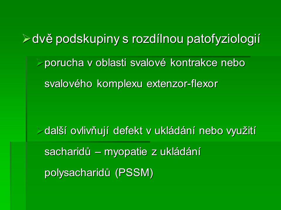 dvě podskupiny s rozdílnou patofyziologií