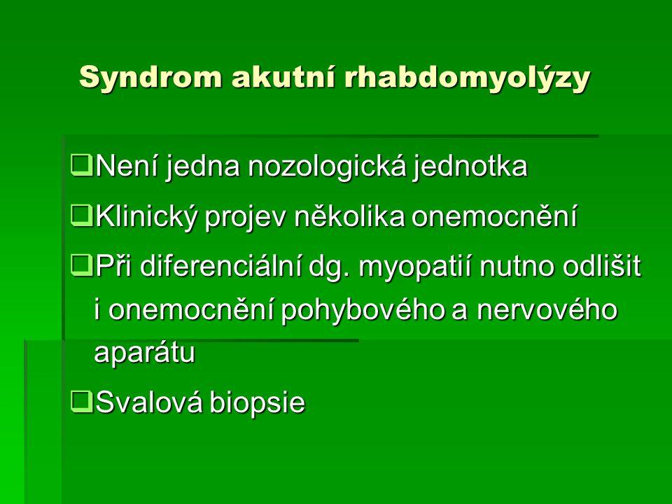 Syndrom akutní rhabdomyolýzy