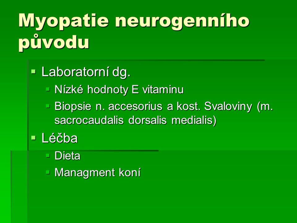 Myopatie neurogenního původu