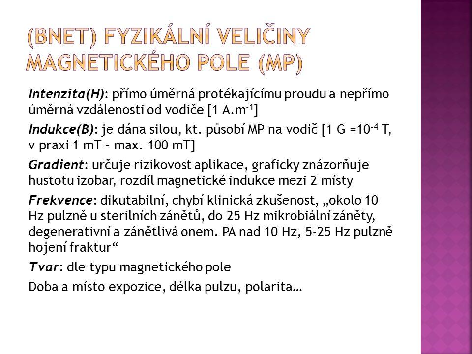 (BNET) Fyzikální veličiny magnetického pole (MP)