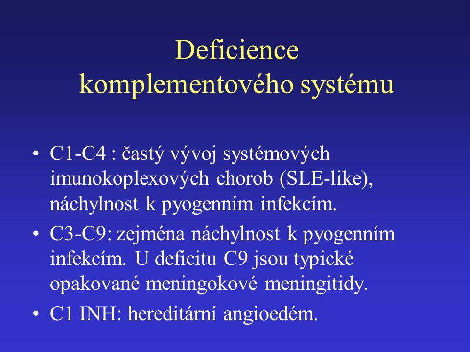 Deficience komplementového systému