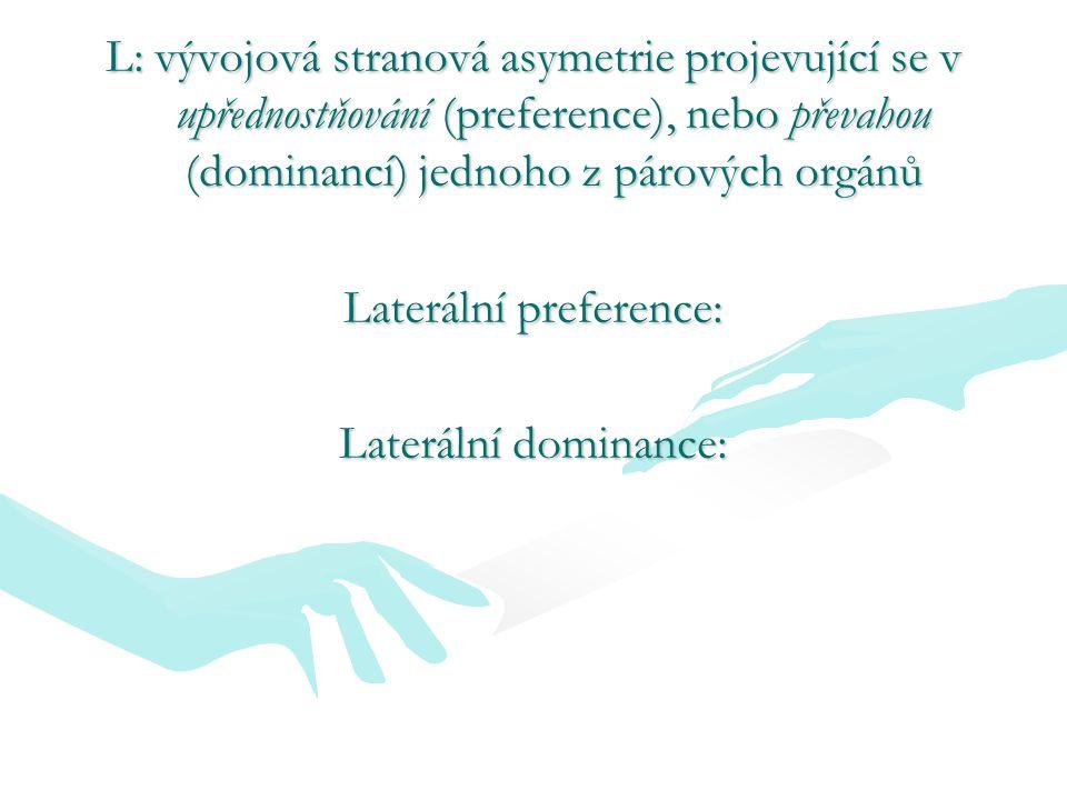 Laterální preference: