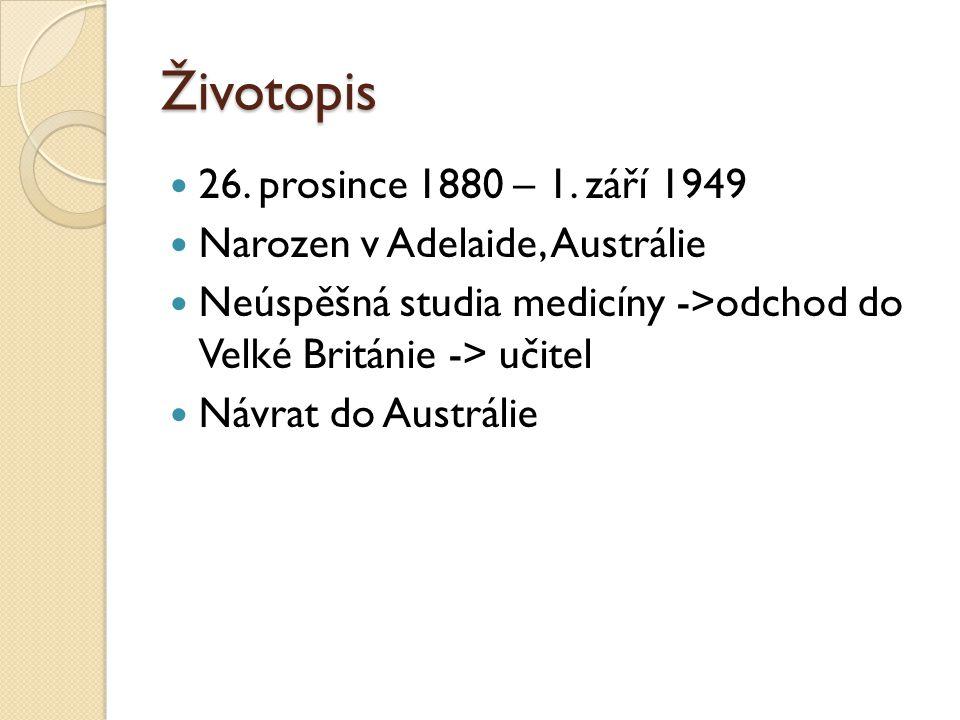 Životopis 26. prosince 1880 – 1. září 1949