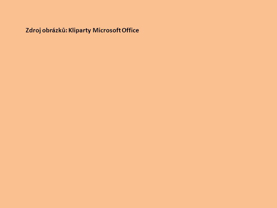 Zdroj obrázků: Kliparty Microsoft Office