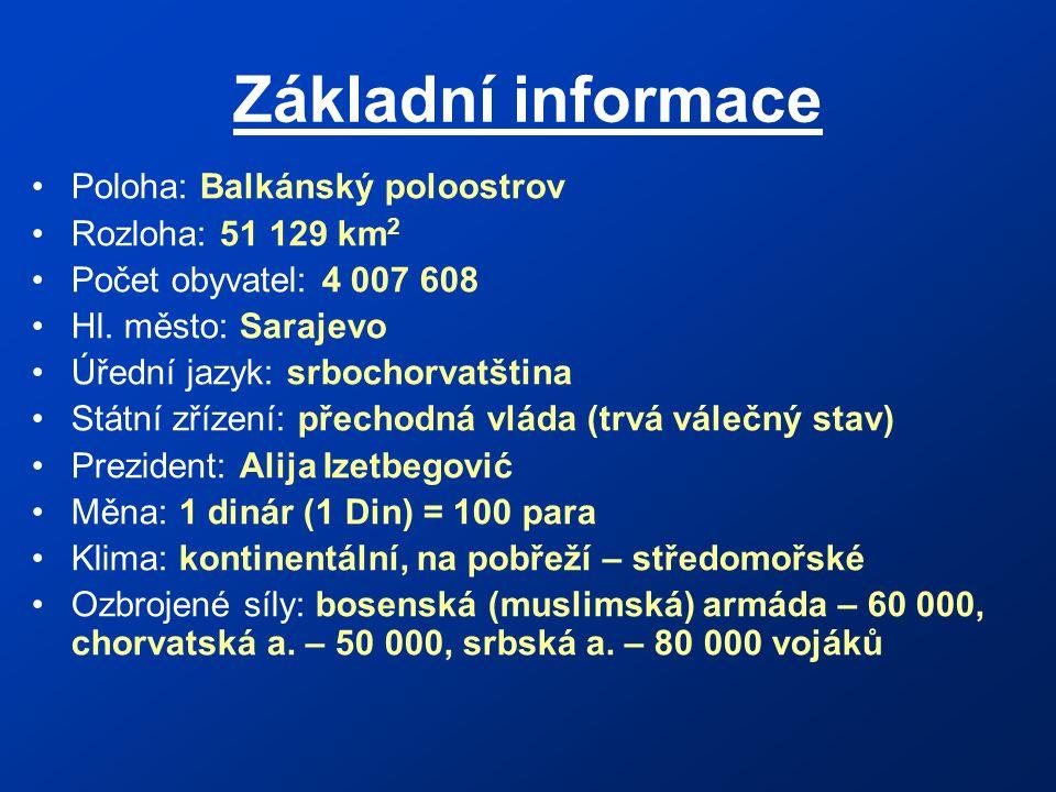 Základní informace Poloha: Balkánský poloostrov Rozloha: 51 129 km2