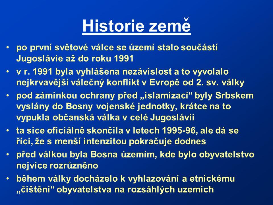 Historie zeme po první světové válce se území stalo součástí Jugoslávie až do roku 1991.
