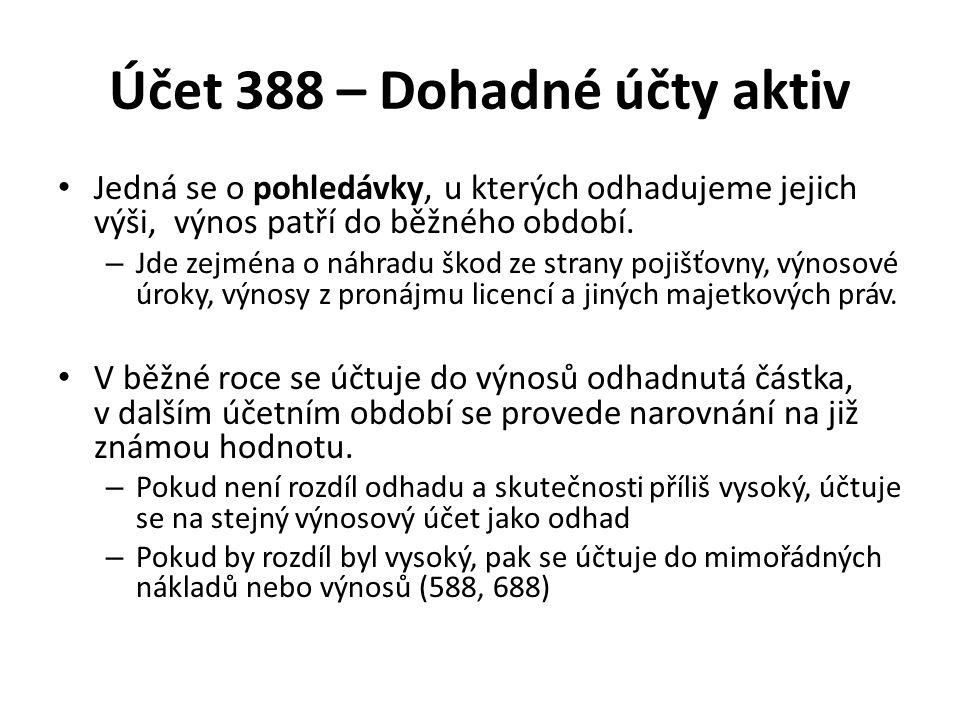 Účet 388 – Dohadné účty aktiv