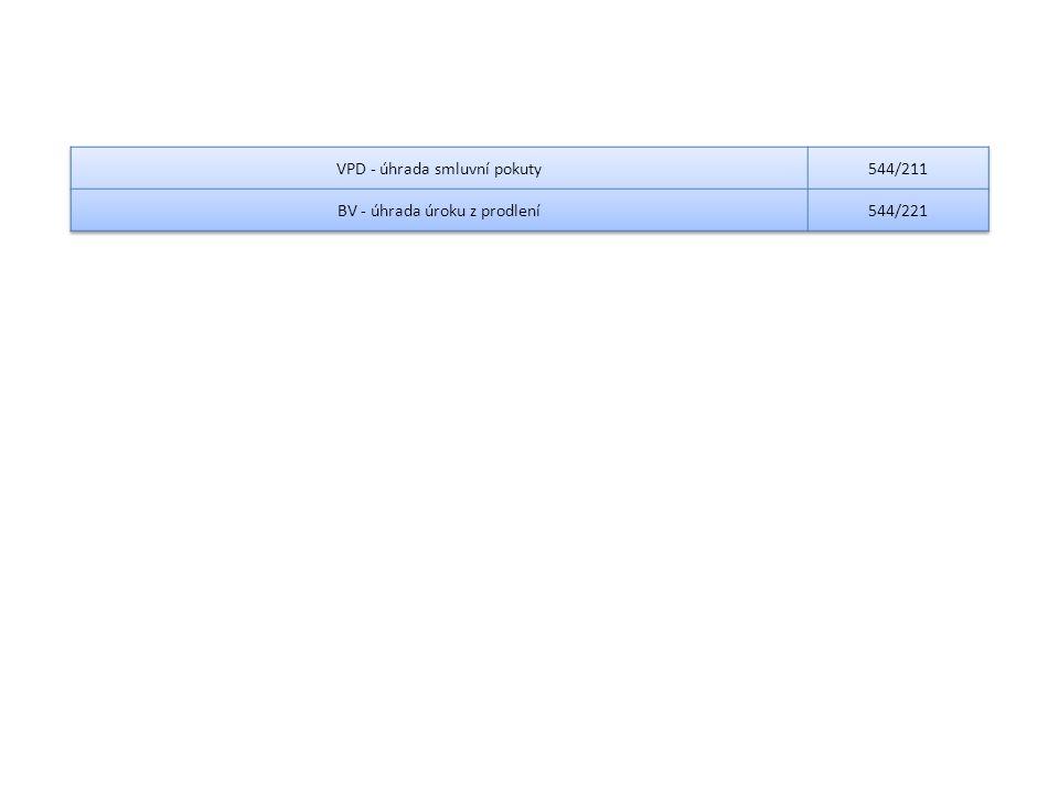 VPD - úhrada smluvní pokuty 544/211 BV - úhrada úroku z prodlení