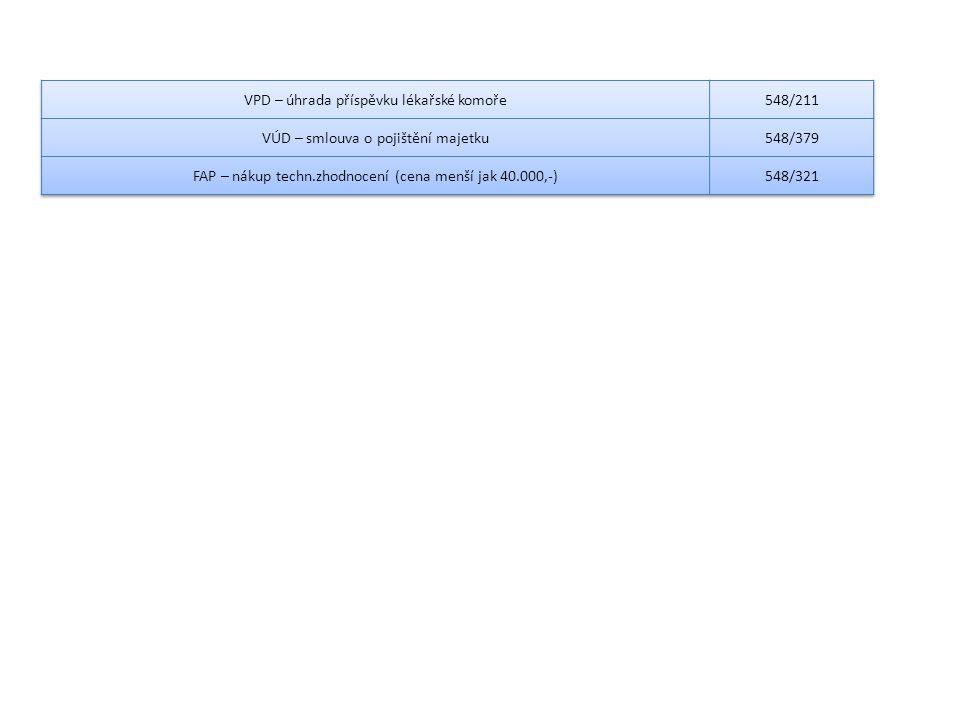 VPD – úhrada příspěvku lékařské komoře 548/211
