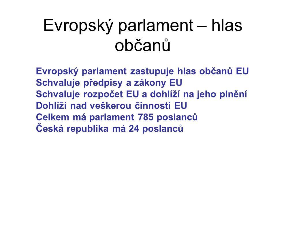 Evropský parlament – hlas občanů