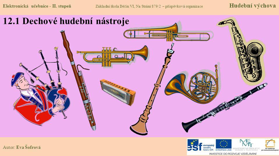 12.1 Dechové hudební nástroje