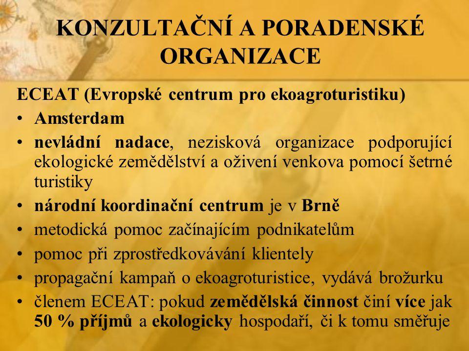 KONZULTAČNÍ A PORADENSKÉ ORGANIZACE