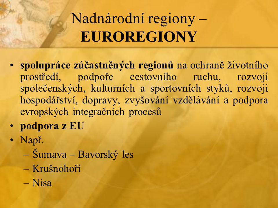 Nadnárodní regiony – EUROREGIONY