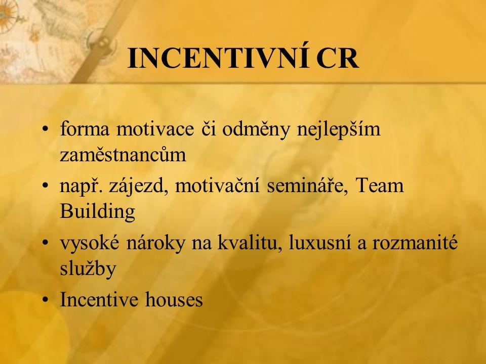 INCENTIVNÍ CR forma motivace či odměny nejlepším zaměstnancům