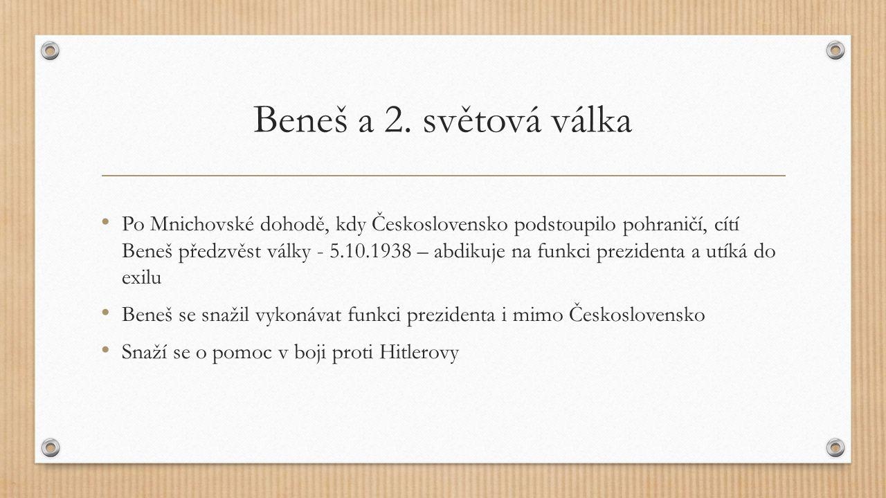 Beneš a 2. světová válka