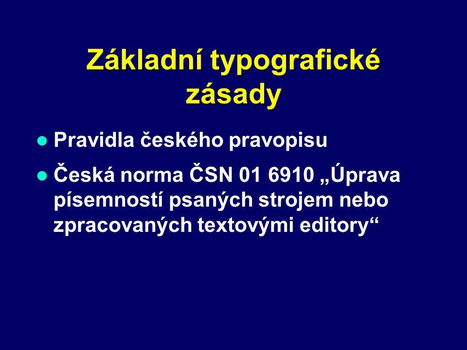 Základní typografické zásady