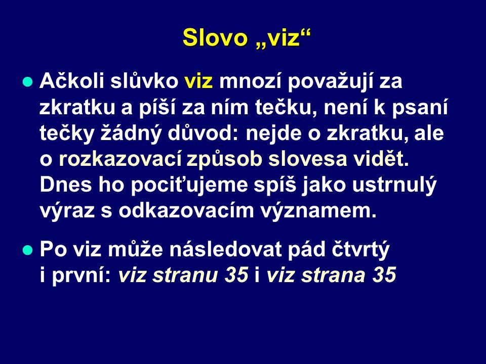 "Slovo ""viz"