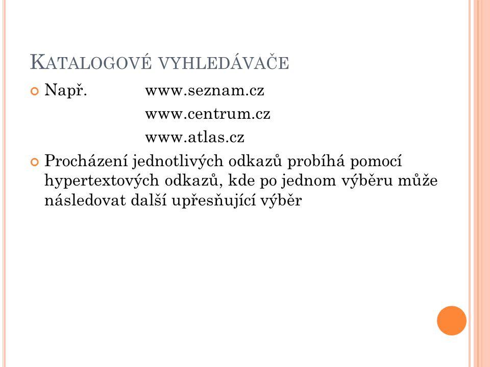 Katalogové vyhledávače