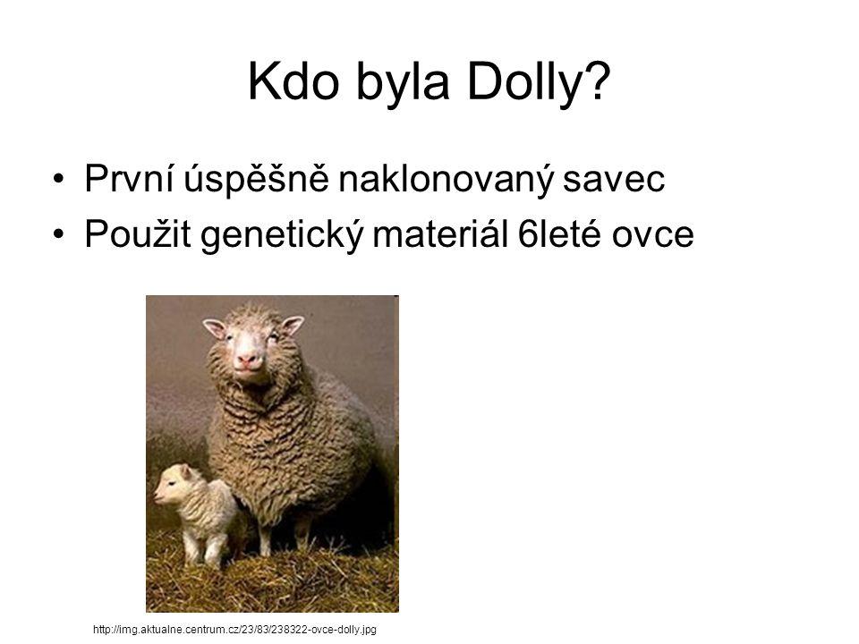 Kdo byla Dolly První úspěšně naklonovaný savec