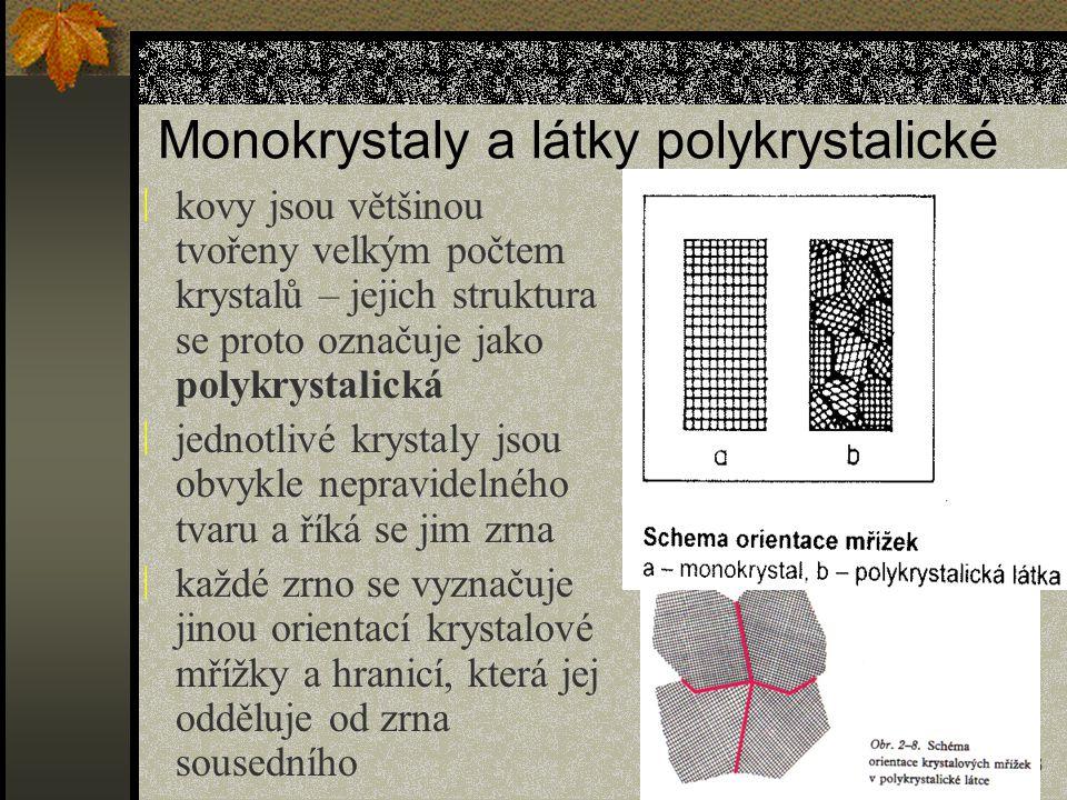Monokrystaly a látky polykrystalické