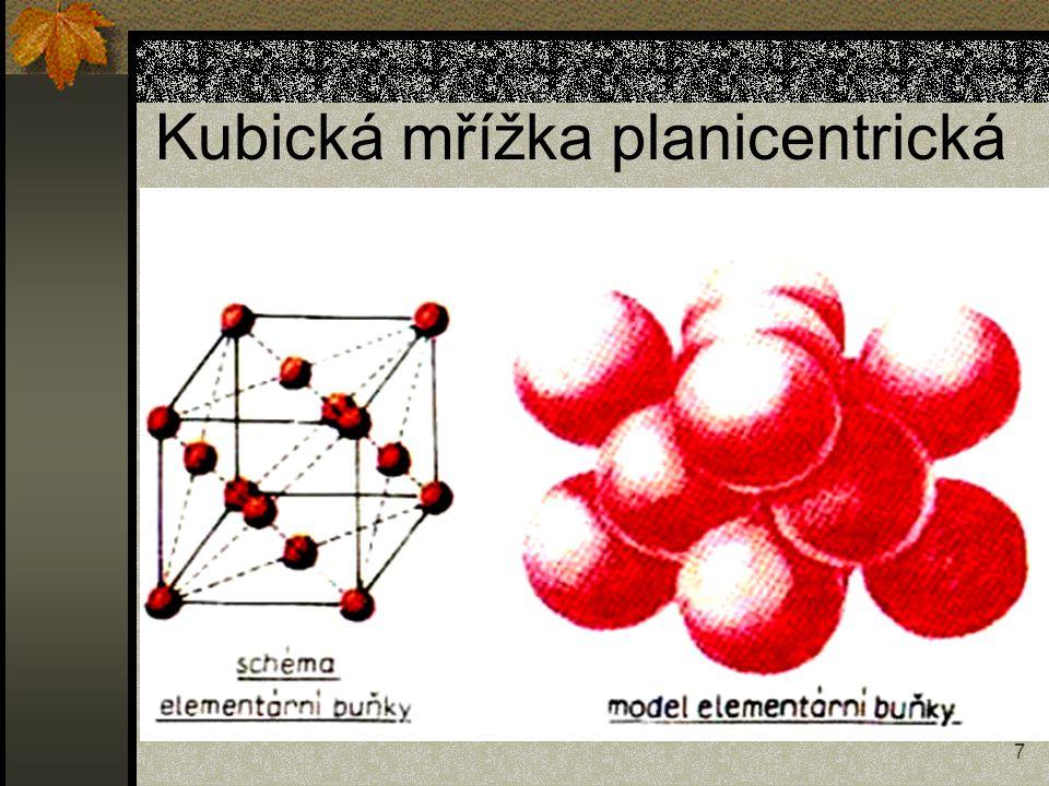 Kubická mřížka planicentrická