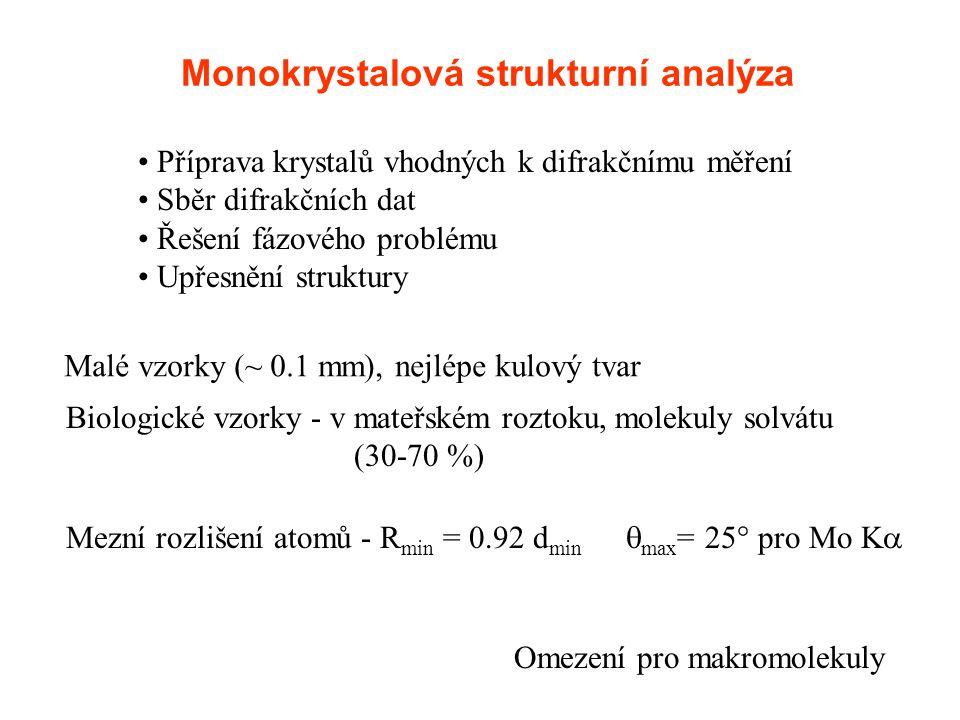 Monokrystalová strukturní analýza