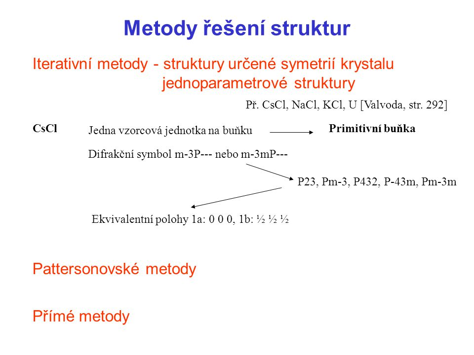Metody řešení struktur