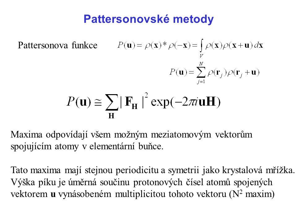 Pattersonovské metody