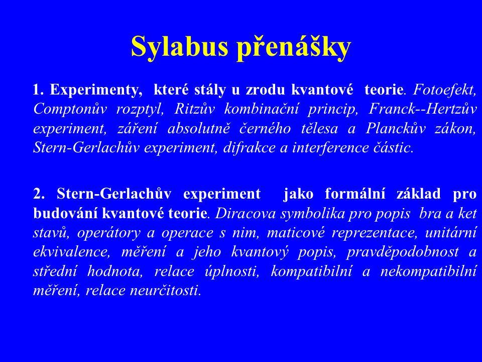 Sylabus přenášky