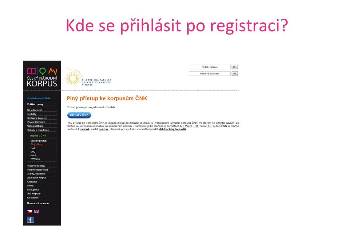 Kde se přihlásit po registraci