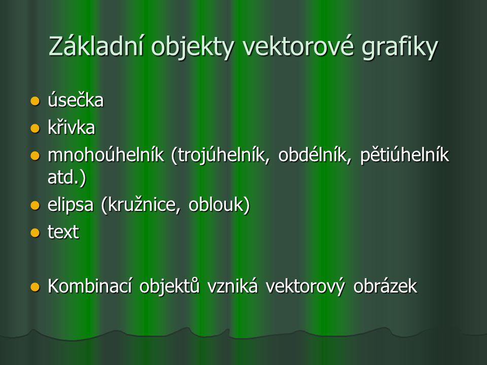 Základní objekty vektorové grafiky