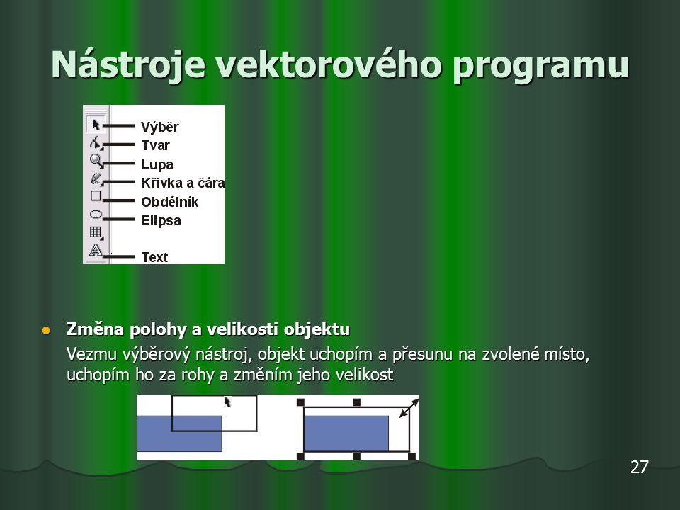 Nástroje vektorového programu