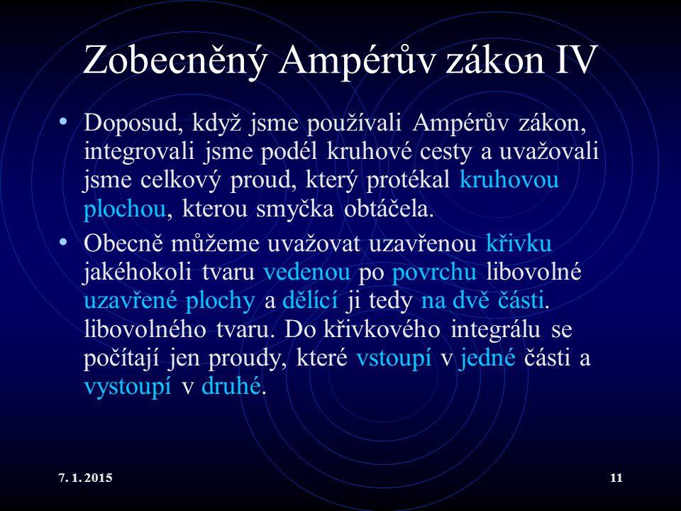 Zobecněný Ampérův zákon IV