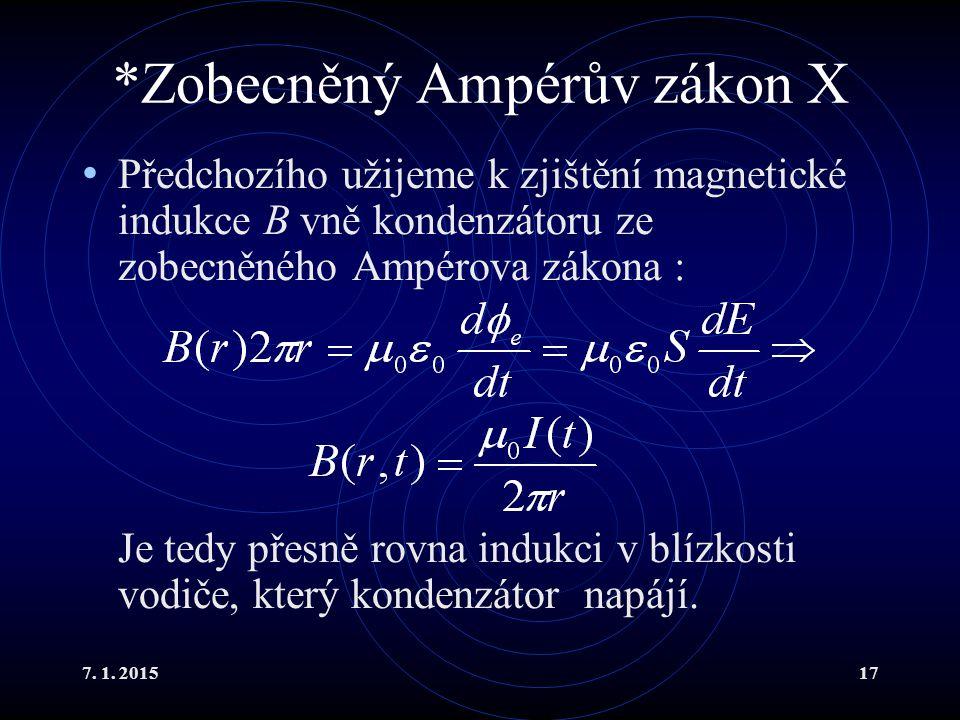 *Zobecněný Ampérův zákon X