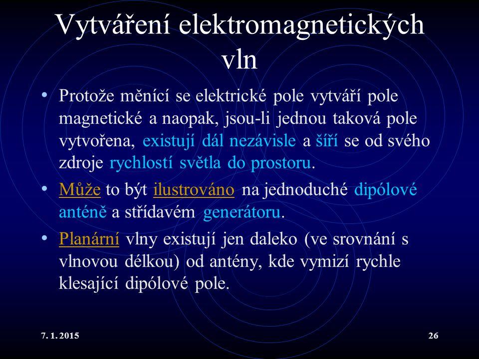 Vytváření elektromagnetických vln