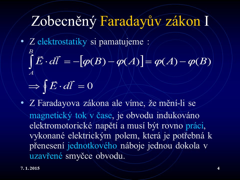 Zobecněný Faradayův zákon I