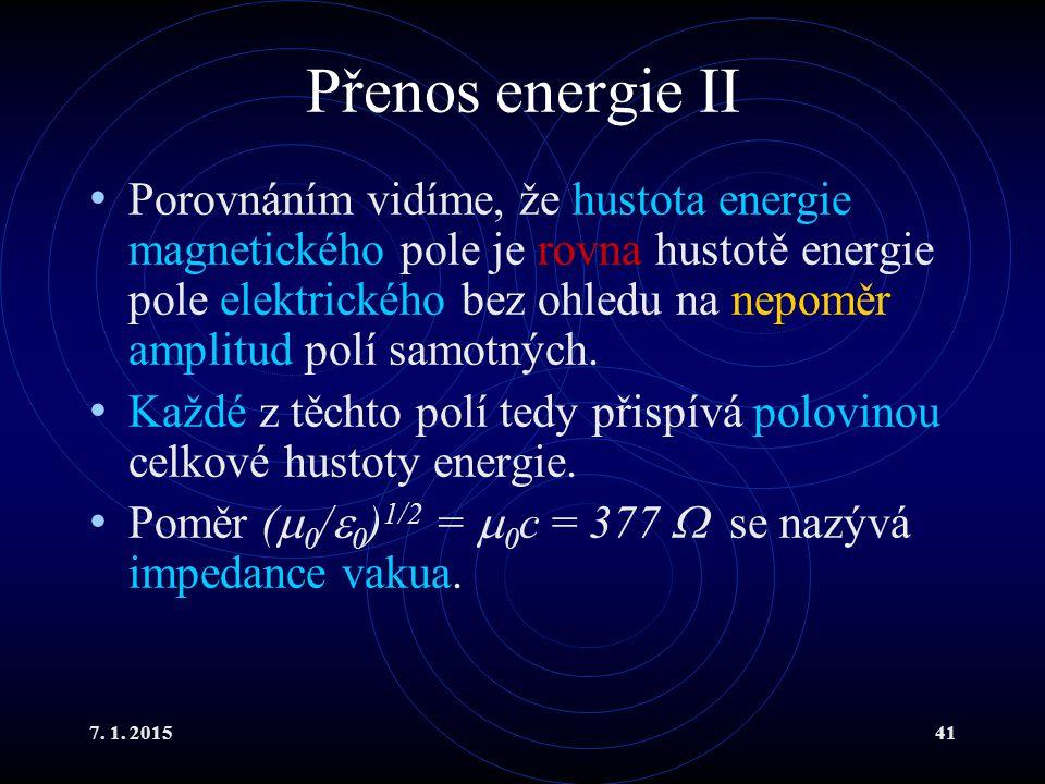 Přenos energie II