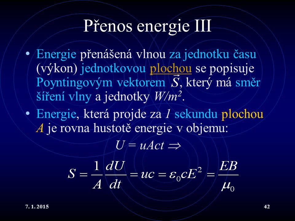 Přenos energie III