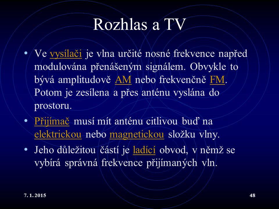 Rozhlas a TV